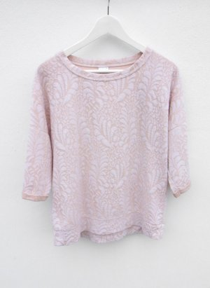 Ginatricot Pullover Muster nude rose rosa pink gina tricot military Größe S vintage blogger