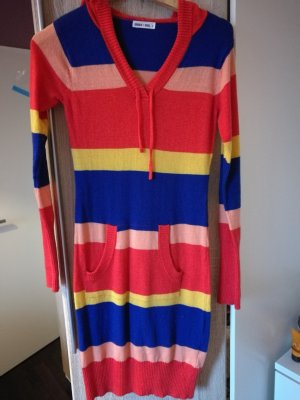Hooded Dress multicolored wool
