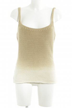 GinGer Knitted Top camel-oatmeal color gradient beach look