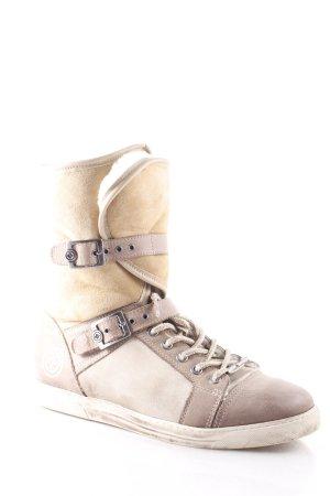 Gino-B Kurzstiefel hellbraun-beige Street-Fashion-Look