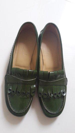 Moccasins petrol leather