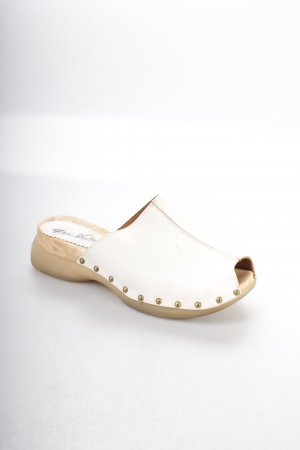 Gino ventori Mules natural white Boho look