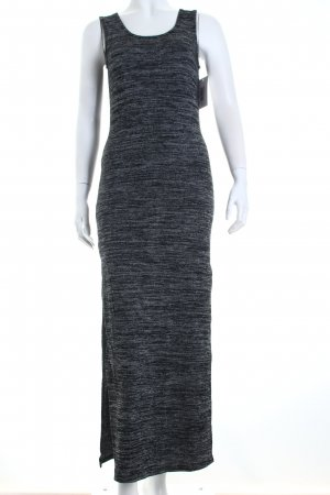 Giorgia Stretchkleid schwarz-grau meliert Casual-Look
