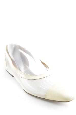 Giorgio  Armani Ballerinas mit Spitze creme Casual-Look