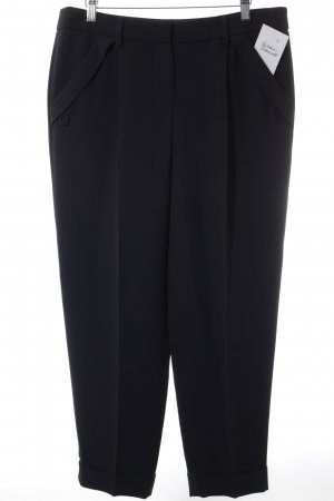 Giorgio  Armani Bundfaltenhose schwarz Business-Look