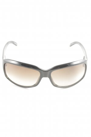 Giorgio  Armani eckige Sonnenbrille creme-schwarz Casual-Look