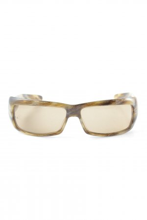 Giorgio  Armani eckige Sonnenbrille hellbraun-beige abstraktes Muster Retro-Look