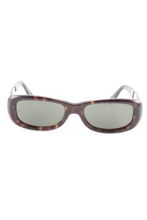Giorgio  Armani Hoekige zonnebril zwart bruin-bruin casual uitstraling