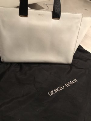 Giorgio  Armani Carry Bag black-white leather
