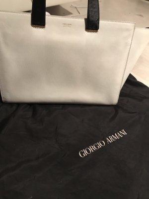 Giorgio  Armani Bolso barrel negro-blanco Cuero