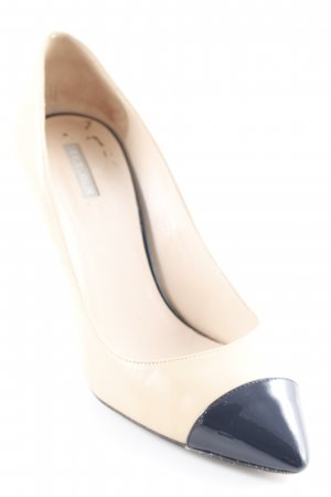 Giorgio  Armani High Heels beige-schwarz Business-Look