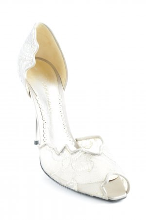 Giorgio  Armani High Heels grau extravaganter Stil