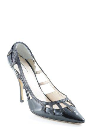 Giorgio  Armani High Heels schwarz extravaganter Stil