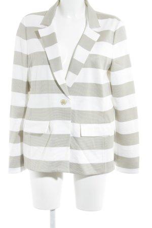 Giorgio  Armani Blazer corto bianco-beige motivo a righe stile classico