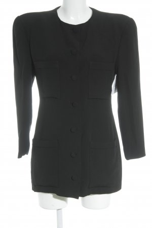 Giorgio  Armani Long-Blazer schwarz Business-Look
