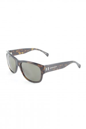 Giorgio  Armani Oval Sunglasses black brown-brown animal pattern