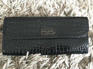 Giorgio Armani Parfumes Clutch - schwarz Lack Schlangenoptik