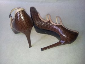 Armani Strapped pumps brown leather