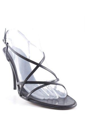 Giorgio  Armani Riemchen-Sandaletten schwarz extravaganter Stil