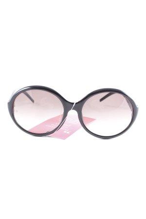 Giorgio  Armani runde Sonnenbrille schwarz Vintage-Look