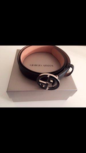 Giorgio Armani schwarzer Gürtel Klassisch schön