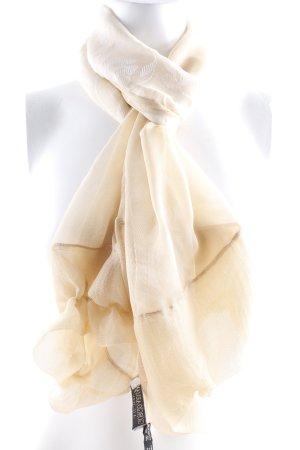 Giorgio  Armani Silk Scarf sand brown floral pattern casual look