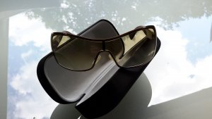 Giorgio  Armani Glasses light brown-cream synthetic material