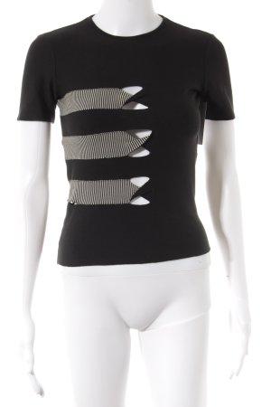 Giorgio  Armani T-Shirt schwarz-weiß Streifenmuster Casual-Look