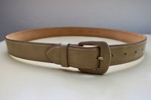 Giorgio  Armani Cintura di pelle beige chiaro-crema Scamosciato
