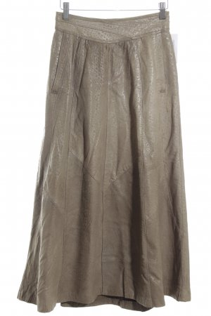 Giorgio Mobiani Leather Skirt beige spot pattern elegant