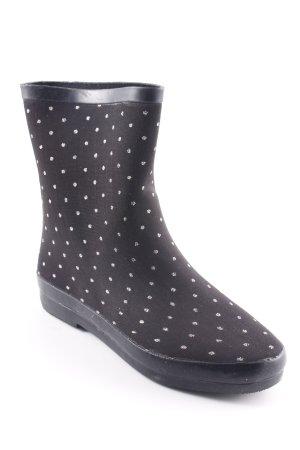 Gioseppo Gummistiefel schwarz-silberfarben Punktemuster Casual-Look