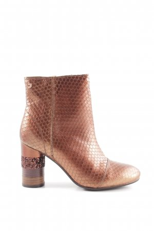 Gioseppo Short Boots brown allover print elegant