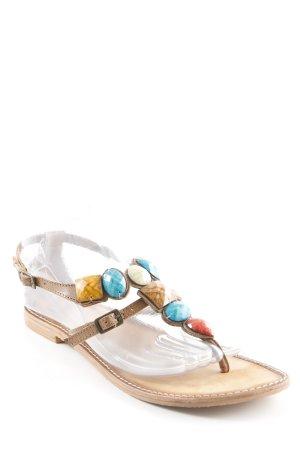 Gioseppo Zehentrenner-Sandalen mehrfarbig Gypsy-Look