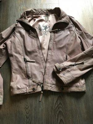 Gipsy Leather Jacket dusky pink leather