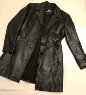 Gipsy Abrigo de cuero negro