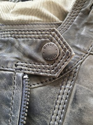 Gipsy Echtlederjacke grey