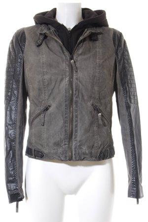 Gipsy Kurzjacke schwarz-graugrün Farbverlauf Street-Fashion-Look