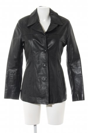 Gipsy Leather Blazer black casual look
