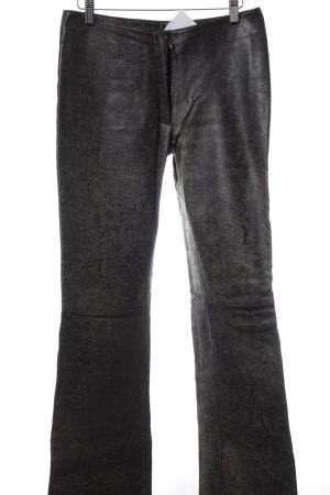 Gipsy Lederhose dunkelbraun-hellbraun Paisleymuster extravaganter Stil