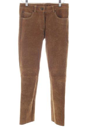 Gipsy Pantalone in pelle marrone chiaro stile casual