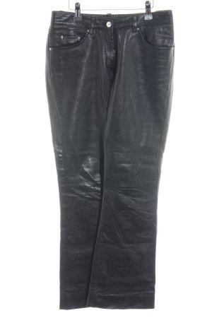 Gipsy Pantalone in pelle nero Stile ciclista
