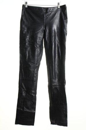 Gipsy Lederhose schwarz Biker-Look