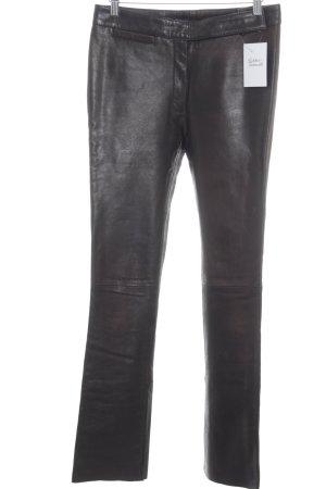 Gipsy Lederhose schwarzbraun klassischer Stil
