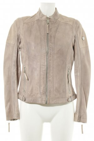 Gipsy Lederjacke creme Business-Look