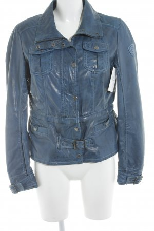Gipsy Lederjacke blau Casual-Look