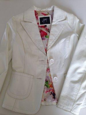 Gipsy Lederjacke Größe S in weiß