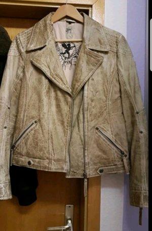 Gipsy Lederjacke Jacke abnehmbarer Kragen 38 40