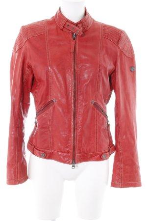 Gipsy Lederjacke rot Biker-Look