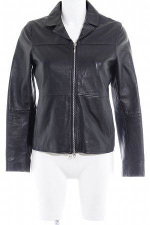 Gipsy Veste en cuir noir style décontracté