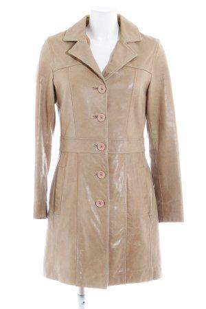Gipsy Manteau en cuir beige style mode des rues